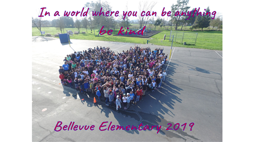 BV Students gathered in the shape of a Heart
