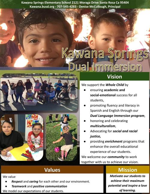 Kawana Springs Dual Immersion Flyer